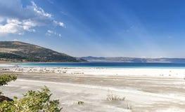 Beau lac Salda dans la province de Burdur, Turquie photos stock