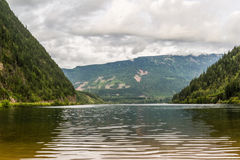 Beau lac trois valley dans les montagnes Photographie stock libre de droits