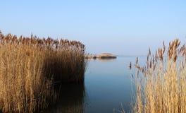 Beau lac Velence photographie stock