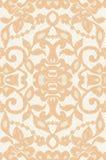 Beau lacet beige floral Photographie stock
