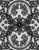 Beau lacet floral avec éléments circulaires Image libre de droits