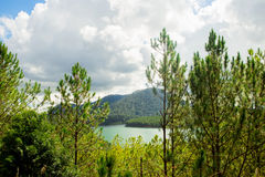 Beau lanscape de lac dans la fuite de Truc, lat du DA, Vietnam image stock