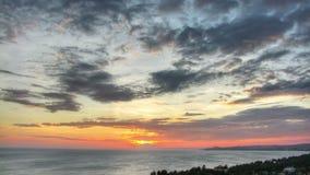 Beau laps de temps de coucher du soleil banque de vidéos