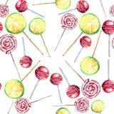 Beau les sucreries de caramel tordues par citron frais délicieux savoureux délicieux merveilleux coloré lumineux de dessert d'été Photographie stock libre de droits