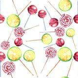 Beau les sucreries de caramel tordues par citron frais délicieux savoureux délicieux merveilleux coloré lumineux de dessert d'été Photographie stock