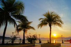 Beau lever de soleil à langkawi Image stock