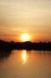 Beau lever de soleil. Photo stock
