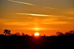 Beau lever de soleil Images stock