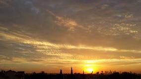 Beau lever de soleil Photos stock
