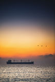 Beau lever de soleil au-dessus de la mer Image stock