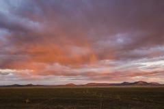 Beau lever de soleil coloré vibrant photo stock