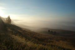 Beau lever de soleil dans le village russe Photographie stock