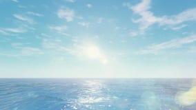 Beau lever de soleil de HD au-dessus d'océan illustration libre de droits