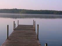 Beau lever de soleil de lac minnesota photographie stock libre de droits