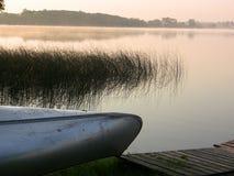 Beau lever de soleil de lac minnesota images libres de droits