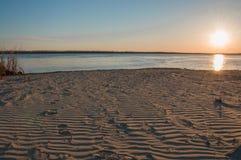 beau lever de soleil de plage Images stock