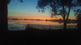 Beau lever de soleil de l'Iowa photo stock