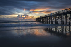 Beau lever de soleil le long de côte de la Floride photo stock