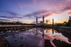 beau lever de soleil de Shah Alam image libre de droits