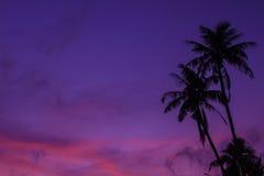Beau lever de soleil sur la mer tropicale photographie stock