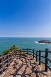 Beau littoral de cap de Hyuga à Miyazaki, Kyushu images stock