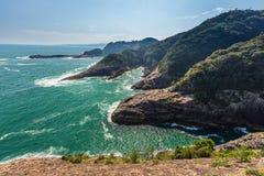Beau littoral de cap de Hyuga à Miyazaki, Kyushu photographie stock