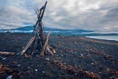 Beau littoral de kaikoura images stock