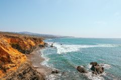 Beau littoral le long de l'itin?raire 1 d'?tat de la Californie aux USA CoastUSA occidental images stock