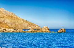 Beau littoral sauvage à la réservation naturelle de Zingaro, Sicile, Photo stock