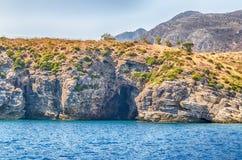 Beau littoral sauvage à la réservation naturelle de Zingaro, Sicile, Images libres de droits