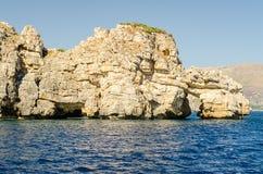 Beau littoral sauvage à la réservation naturelle de Zingaro, Sicile Images libres de droits