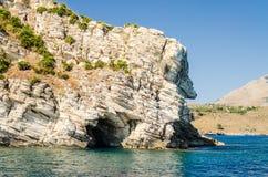 Beau littoral sauvage à la réservation naturelle de Zingaro, Sicile Photo libre de droits