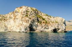 Beau littoral sauvage à la réservation naturelle de Zingaro, Sicile Photographie stock libre de droits