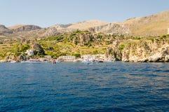 Beau littoral sauvage à la réservation naturelle de Zingaro, Sicile Photo stock