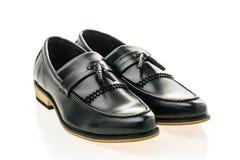 Beau luxe et chaussures en cuir occasionnelles d'hommes Photos stock