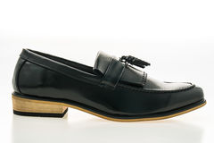 Beau luxe et chaussures en cuir occasionnelles d'hommes Photographie stock libre de droits