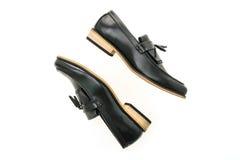 Beau luxe et chaussures en cuir occasionnelles d'hommes Images libres de droits