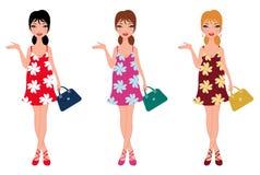 Beau maman-à-soyez avec le vêtement différent de couleur Images stock