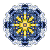 Beau mandala coloré par Deco de vecteur illustration stock