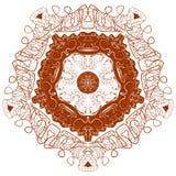 Beau mandala de Boho Image stock
