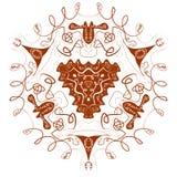 Beau mandala de Boho Images stock