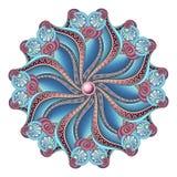 Beau mandala de découpe coloré par Deco de vecteur Photos libres de droits