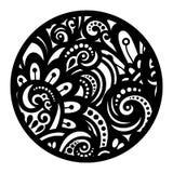 Beau mandala de noir de Deco de vecteur Photos stock