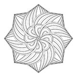 Beau mandala fleuri décoratif monochrome Image stock