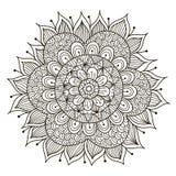 Beau mandala floral de Deco Images stock