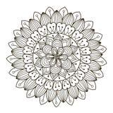 Beau mandala floral de Deco Modèle rond d'ornement de vecteur Images libres de droits