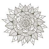 Beau mandala floral de Deco Modèle rond d'ornement de vecteur illustration stock