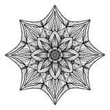 Beau mandala floral de Deco Modèle rond d'ornement de vecteur Grand choix pour la page adulte de coloration, illustration de vecteur