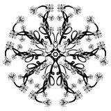 Beau mandala floral noir de Deco de vecteur Photo libre de droits