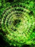 Beau mandala graphique ornemental sur le fond coloré abstrait Couleur verte illustration de vecteur